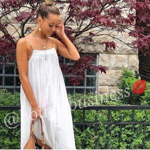 ZARA Wrinkle Look Strappy Dress